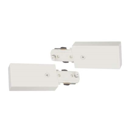 Track Lighting Live End Continuation Pair Connector White