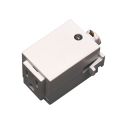 Track outlet adaptor 5 amp max 50086 direct lighting track lighting outlet adapter white mozeypictures Image collections