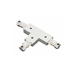 Track Lighting T-Shaped Connector Reverse Polarity 50091L - 50091L-HT-WH
