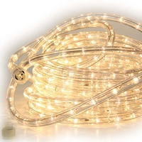 Warm White LED Rope Light 50ft - RLWL-50-WW (3000K) Warm White LED Rope Lights, Warm White, LED Rope Light, Rope Lights, Rope Lighting, Ropelight, Christmas, Holiday, 50FT,  RLWL-50-WW-3000K