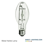 Protected Metal Halide Lamp 150W 1037  Metal Halide Lamp, 150W Metal Halide Lamp, HID Lamps, ANSI M102/O, Plusrite 1037