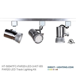 LED Track Lighting Kit PAR20 HT-50047FC-P20-LED-3-KIT-BS Track Lighting Kits, Track Lighting Systems, LED Track Lighting Kits, LED Track Lights, LED Track, LED Track Light, LED Luminaries, LED Spot Light, LED Track Head, Directional Track Lighting,  HT-50047, LED PAR20, Kits, Universal Spot Light, HT-50047FC-P20-LED-3-KIT-BS