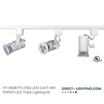 PAR 20 LED Track Lighting Kit in White