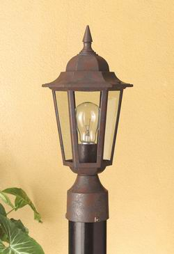 Outdoor Lighting OL-158PS-RU outdoor lantern,  Post Light.