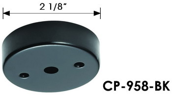 CP-958 mini canopy, single pendant light canopy, mounting hardware for pendant light