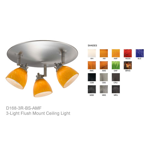 3-Light Multi-Directional Ceiling Fixture D168-3R Multi-Directional Ceiling Fixture,Flush-Mount Ceiling Fixture,Directional spot light,Flush Mount Directional Spot Light,Three-Light Orbit Light,SL-954-3R