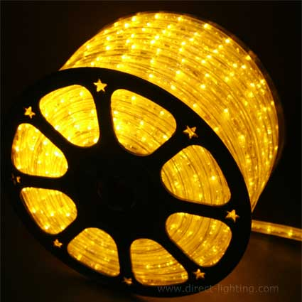 LED Rope Light H103 Yellow  LED Rope Lights, LED Rope Light, Affordable LED Rope Lights, LED Rope Light, Outdoor LED Rope Light, LED 120V, Yellow LED Rope Light