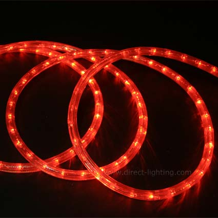 LED Rope Light HC101 LED Rope Light, Custom LED Rope Light, Led Rope Light Warm White, Affordable LED Rope, LED Rope Lighting By The Foot, LED 120V, Decorating Lighting, Led Rope Light, Red Color