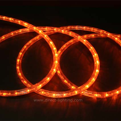 LED Rope Light HC102 LED Rope Light, Custom LED Rope Light, Custom Length, Affordable LED Rope, LED Rope Lighting By The Foot, LED 120V, Decorating Lighting, Led Rope Light, Orange Color