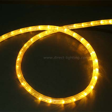 LED Rope Light HC103 LED Rope Light, Custom LED Rope Light, Custom Length, Affordable LED Rope, LED Rope Lighting By The Foot, LED 120V, Decorating Lighting, Yellow Color