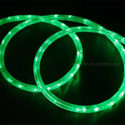 LED Rope Light HC104 LED Rope Light,Custom LED Rope Light, Custom Length, Affordable LED Rope, LED Rope Lighting By The Foot, LED 120V, Decorating Lighting, Led Rope Light, Neon Green Color