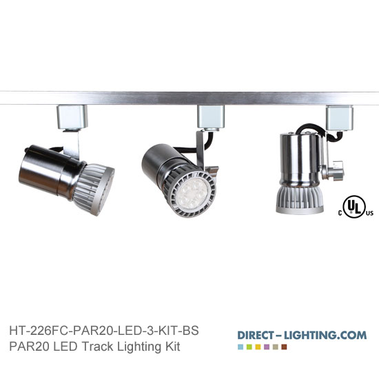 LED Track Lighting Kit PAR20 HT-226FC-P20-LED-3-KIT-BS Track Lighting Kits, Track Lighting Systems, LED Track Lighting Kits, LED Track Lights, LED Track, LED Track Light, LED Luminaries, LED Spot Light, LED Track Head, Directional Track Lighting,  HT-226, LED PAR20, Kits, Universal Spot Light, HT-226FC-P20-LED-3-KIT-BS