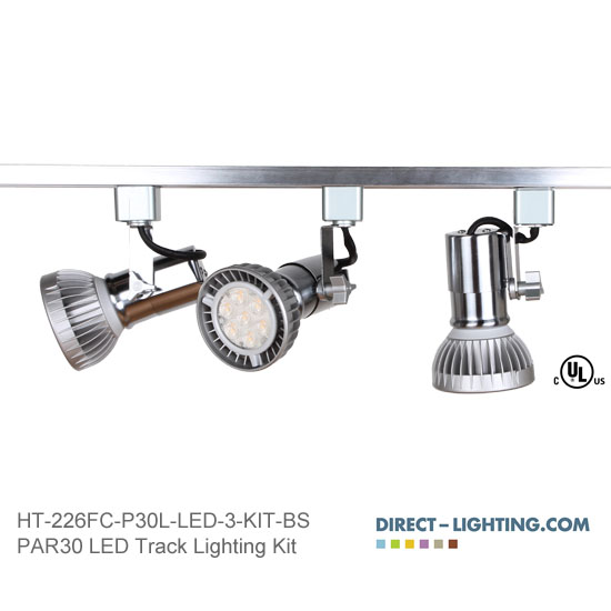 LED Track Lighting Kit PAR30LN HT-226FC-P30L-LED-3-KIT-BS Track Lighting Kits, Track Lighting Systems, LED Track Lighting Kits, LED Track Lights, LED Track, LED Track Light, LED Luminaries, LED Spot Light, LED Track Head, Directional Track Lighting,  HT-226, LED PAR30, Kits, Universal Track Head, Spot Light, HT-226FC-P30L-LED-3-KIT-BS