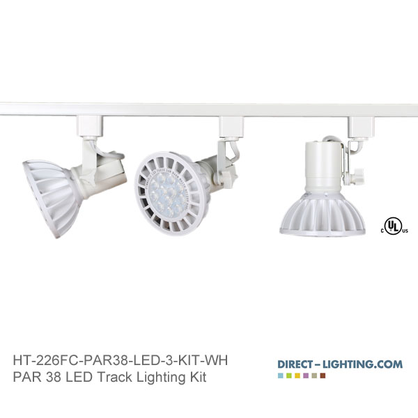 LED Track Lighting Kit PAR38 HT-226FC-P38-LED-3-KIT-WH Track Lighting Kits, Track Lighting Systems, LED Track Lighting Kits, LED Track Lights, LED Track, LED Track Light, LED Luminaries, LED Spot Light, LED Track Head, Directional Track Lighting,  HT-226, LED PAR38, Kits, Universal Track Head, Spot Light, HT-226FC-P38-LED-3-KIT-BK