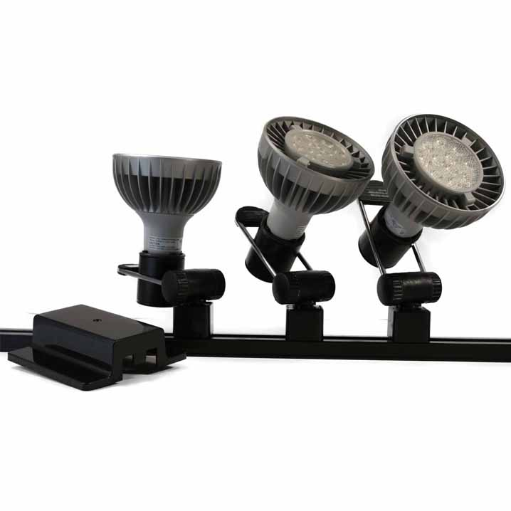 LED Track Lighting Kit PAR38 HT-219FC-P38-LED-3-KIT Track Lighting Kits, Track Lighting Systems, LED Track Lighting Kits, LED Track Lights, LED Track, LED Track Light, LED Luminaries, LED Spot Light, LED Track Head, Directional Track Lighting,  HT-50002, LED PAR38, Kits
