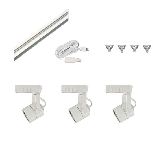 Track Lighting Kit HT-50010-3-KIT Display Lighting, Exhibit Lighting, Low Voltage Track Lighting Fixtures, track lighting fixtures, track lighting,track fixtures, track head, trade show lighting