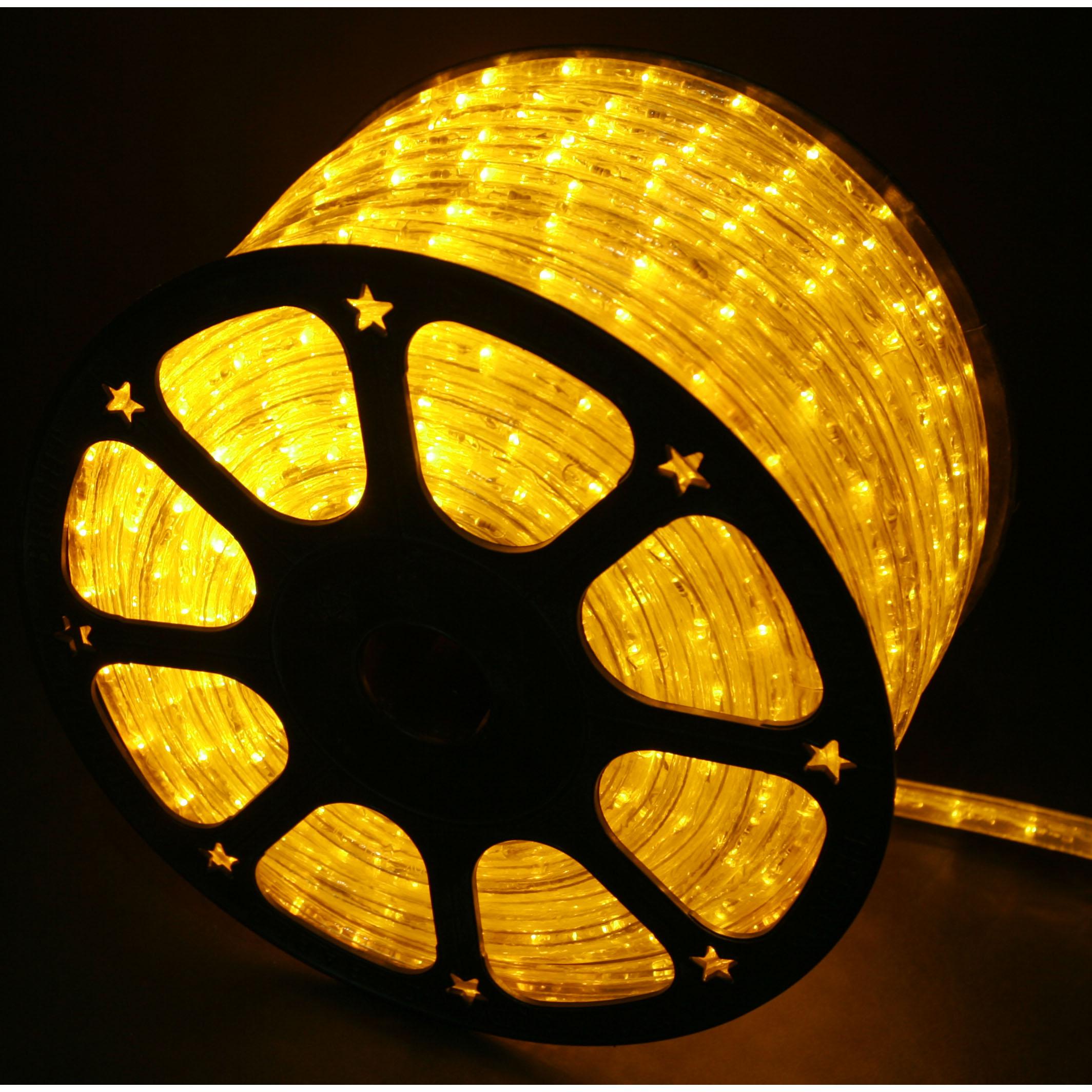 new product 36b51 576ce Yellow LED Rope Lights 148FT RLWL-148-YEL - Direct-Lighting.com