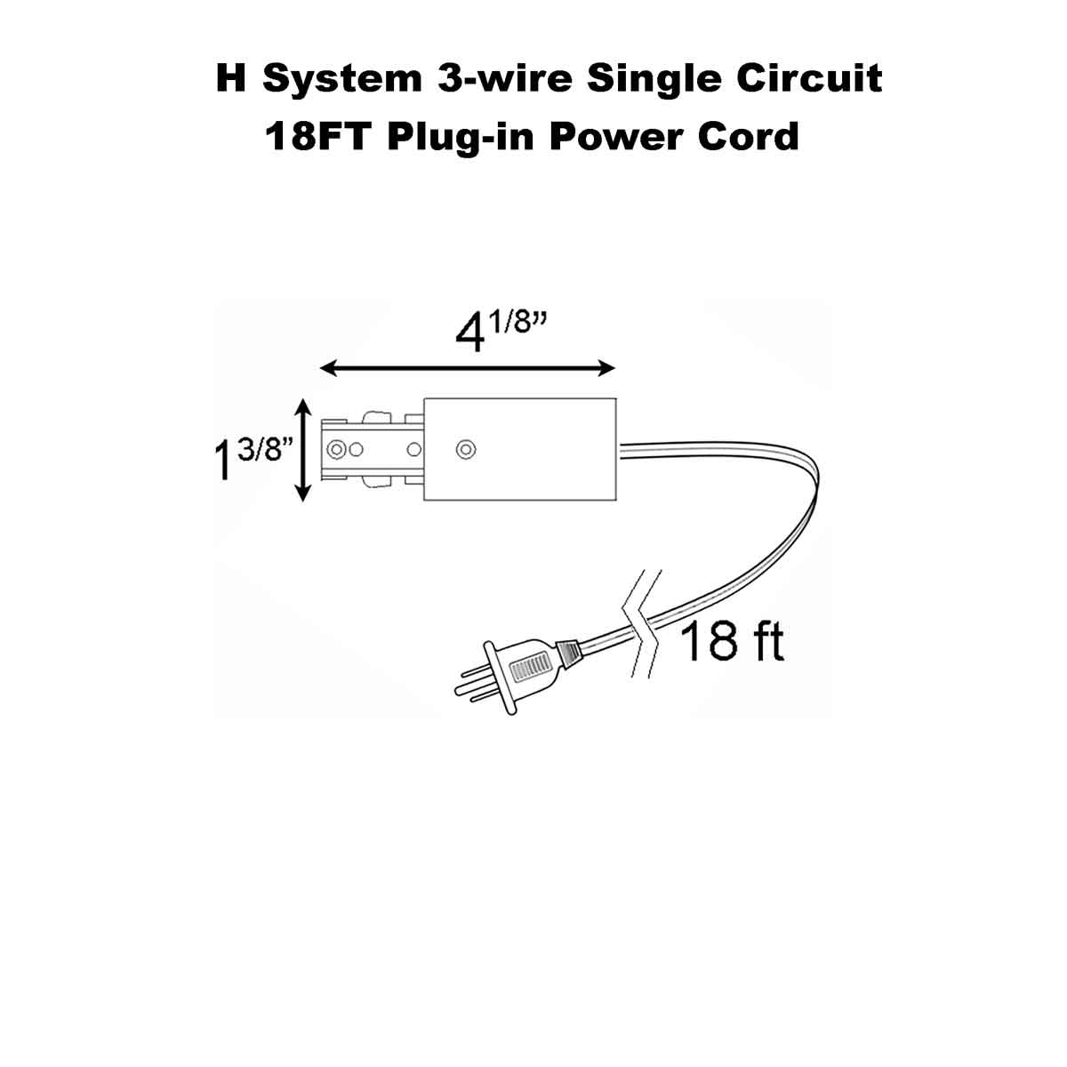 Cord and Plug Set For Single Circuit Straight Track 50088
