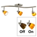 3-Light Bar Track Lighting Kit D268-23C-BS-AMS - D268-23C-BS-AMS