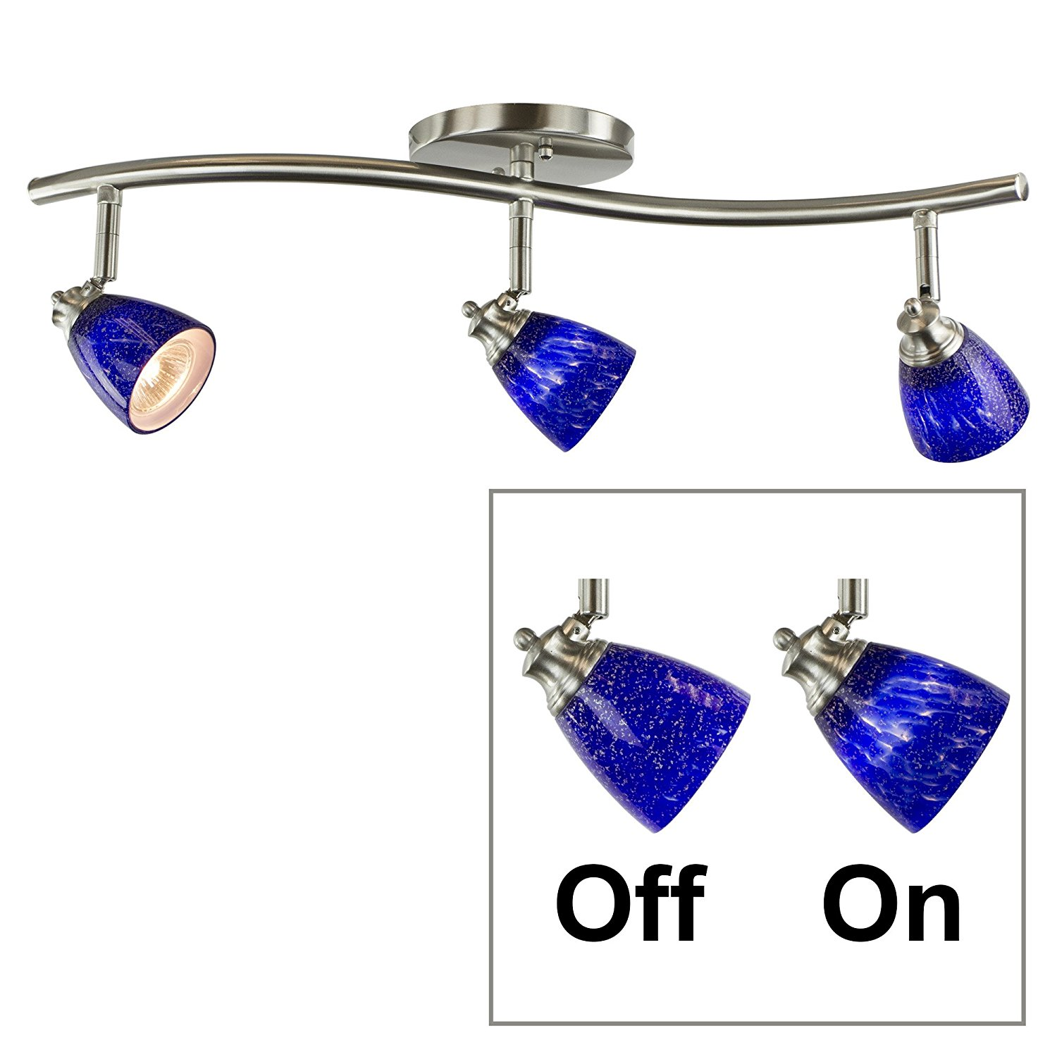 blue track lighting. 3-Light Bar Track Lighting Kit D268-23C-BS-BLS - D268 Blue A