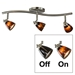 3-Light Bar Track Lighting Kit D268-23C-BS-BRNS - D268-23C-BS-BRNS