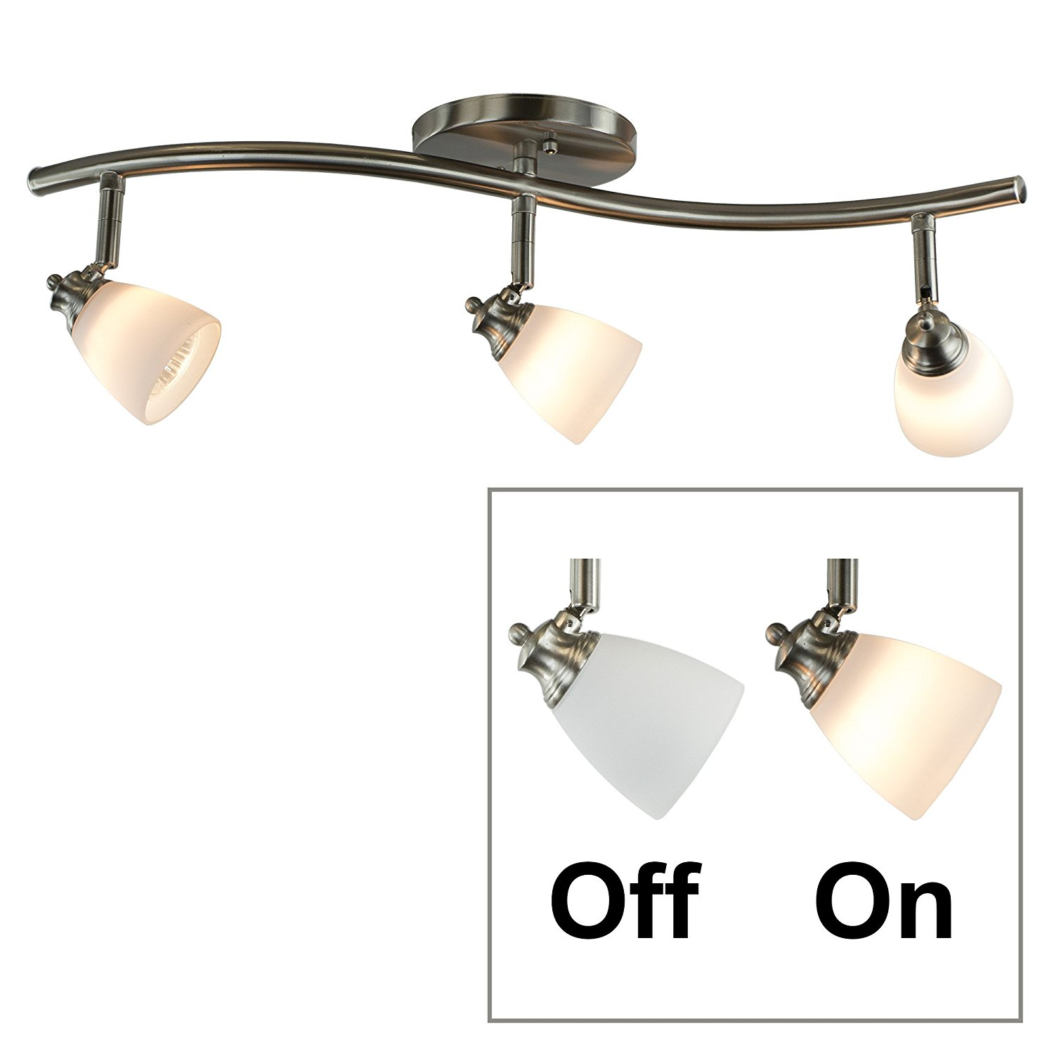 Light Bar Track Lighting Kit Fixed Spotlight Flush Mount Ceiling Straight