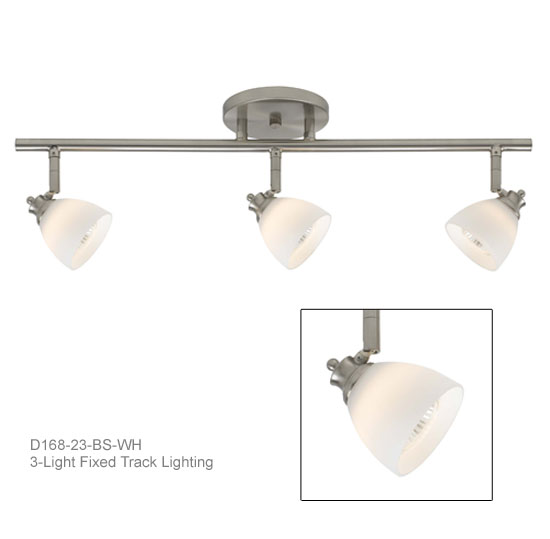 3 Light Fixed Track Lighting Kit D168 23 Wh