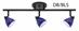 Fixed Track Lighting Kit Bar Flush Mount