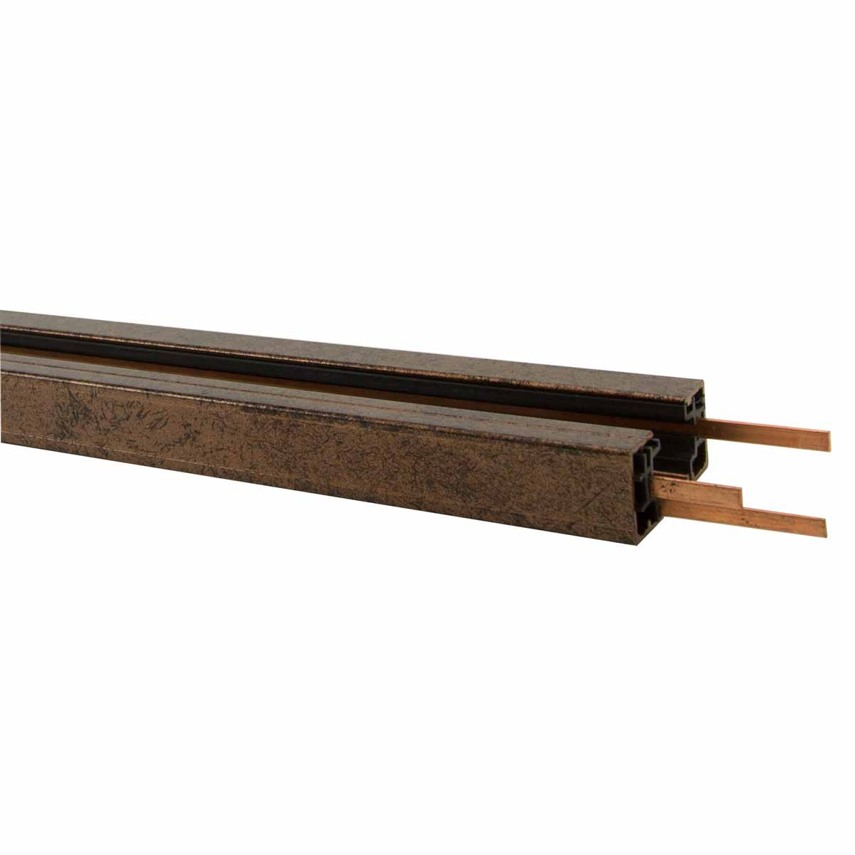 120V H System 4ft Single Circuit Straight Track Brown