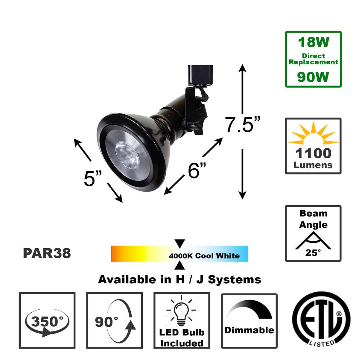 Shop 50047-L38-4K-BK LED LED Track Lighting Fixture