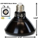 PAR30 LED Light Bulb Black 13W 3000K Warm White