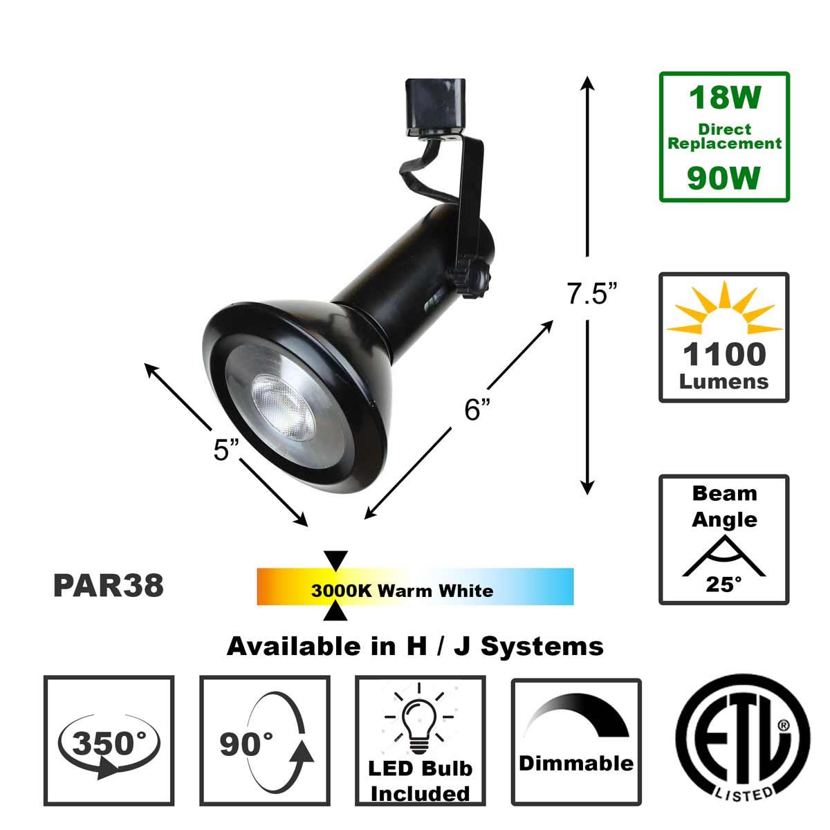 Shop 50158-L38-3K-BK LED LED Track Lighting Fixture