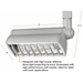 Compact Fluorescent Track Lighting Fixture 50079 - 50079-HT-WH