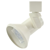 GU10 Flared Stepped Track Lighting Fixture 4080LED-WH