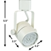 GU10 LED Track Lighting Kit 50163-3KIT-5K-WH - 50163-3KIT-5K-WH-50090