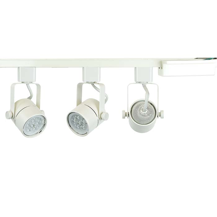 track lighting white. GU10 LED Track Lighting Kit 50163-3KIT-5K-WH - 50163-3KIT White I