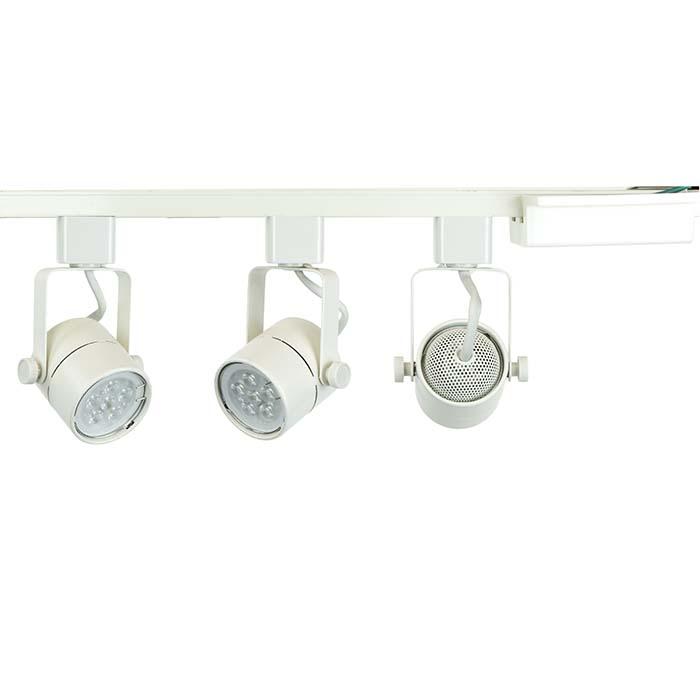track lighting white. Modren White LED Track Lighting Kit White Finish GU10 75W 5K Bulb 501633KIT5KWH   DirectLightingcom 8886288166 Throughout H