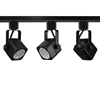 GU10 LED Track Lighting Kit 50155-3KIT-27K-BK LED Track Lighting Kit, Black, GU10, LED, Track Lights, Kits, Track Fixtures, 27K, 50W Halogen, White, 50155-3KIT-27K-BK