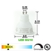 LED GU10 Light Bulb 3000K Warm White