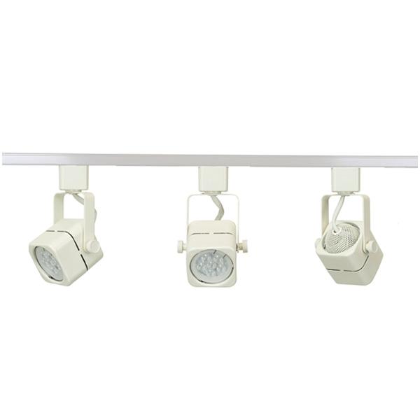 Led track lighting kit white finish gu10 75w 6k led bulb 50155 3kit led track lighting fixture 50155led wh 6k aloadofball Image collections