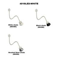 LED 18-Inch Gooseneck Track Lighting Fixture 4018LED-WH Gooseneck LED Track Lighting Fixture, Track Fixtures, LED Track Head, Bendable Track Lights, Retail Store Lighting, Ceiling Lighting, General Lighting,Dimmable Led Track Lighting,  LED Track Fixtures, LED Track Lights, Energy Saving, 4018LED