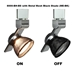 LED Track Lighting Fixture 8000-BH-BS with ME-BK Shade