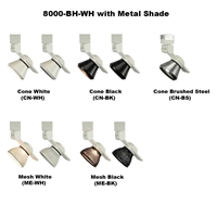 LED Track Lighting Fixture 8000-BH-WH-METAL