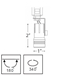 LED Track Lighting Fixture M52-3-40D-6K-BS - M52-3-40D-6K-BS