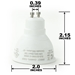 LED GU10 Light Bulb with your choice of 2.7K, 3K, 4K, 5K, and 6.5K