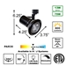 Compact PAR30 LED Track Lighting Kit 50047-3L30-4K-BK Specification