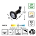 PAR38 LED 18W 4K Cool White Track Lighting Kit 50047-L38-4K-BK