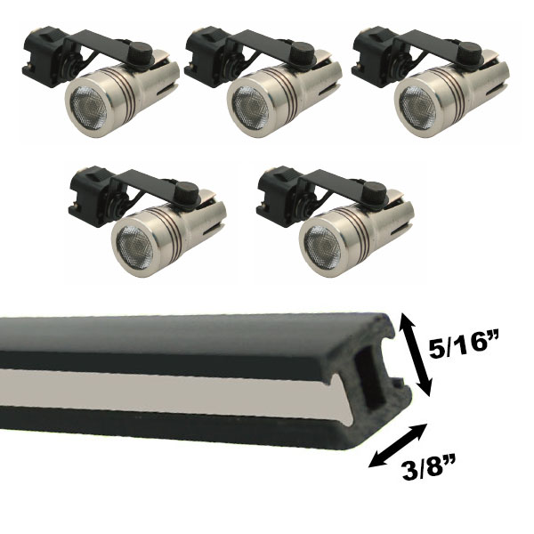 discount led track lighting kits led light bulb in stock fast ship 888 628 8166. Black Bedroom Furniture Sets. Home Design Ideas