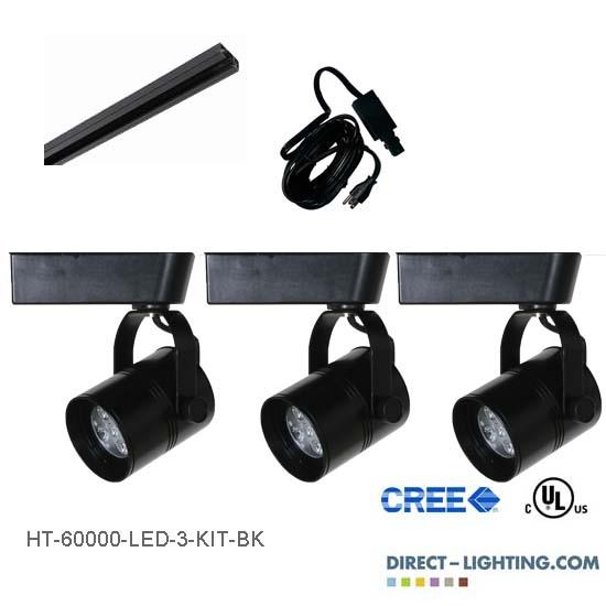 Led track lighting kits led track lighting systems ht 60000 led track lighting kit black aloadofball Choice Image
