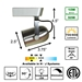 LED Track Lighting Kit 60088-3KIT-BS Specification